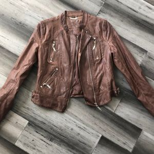 J2 Jou Jou Brown Vegan Leather Jacket